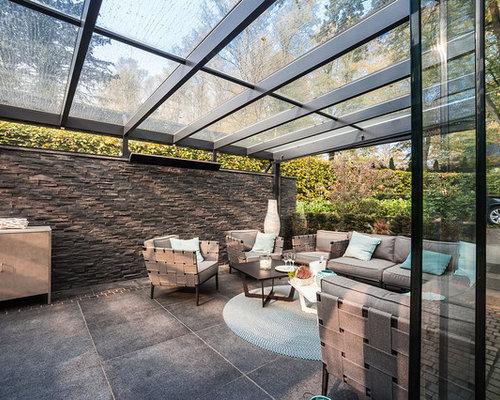 wintergarten mit betonboden ideen design bilder houzz. Black Bedroom Furniture Sets. Home Design Ideas