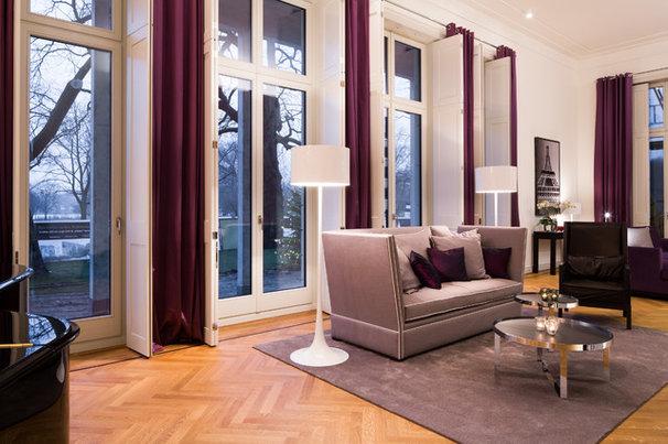 gardinen aufh ngen mit seilsystem vorhangschiene oder gardinenstange. Black Bedroom Furniture Sets. Home Design Ideas