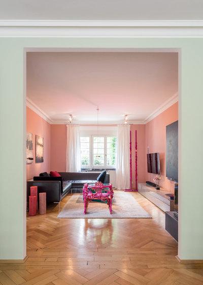 Modern Wohnzimmer by VerWANDlung remmers Malerwerkstätten