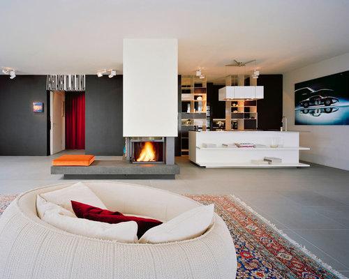 Wohnzimmer design wandfarbe  Wohnzimmer mit schwarzer Wandfarbe - Ideen, Design, Bilder & Beispiele