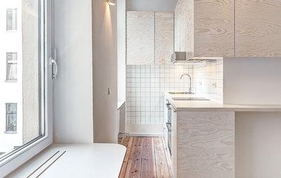 Vorher-Nachher: Eine Mini-Wohnung in Berlin mit Schlafstatt in der Höhe