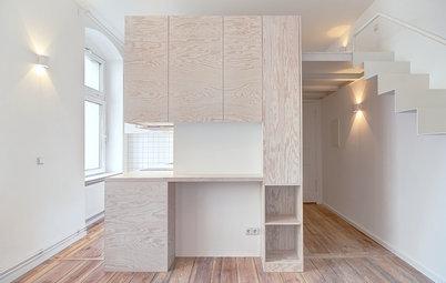 До и после: Крошечная квартира в Берлине со спальней на антресолях