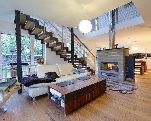 gro e wohnzimmer mit tunnelkamin ideen design houzz. Black Bedroom Furniture Sets. Home Design Ideas