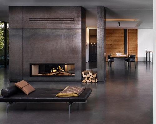 Betonfußboden Wohnzimmer ~ Wohnzimmer mit betonboden ideen design & bilder houzz