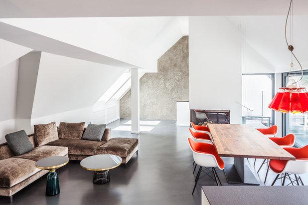 Modern Wohnbereich by ONE!CONTACT-Planungsbüro GmbH