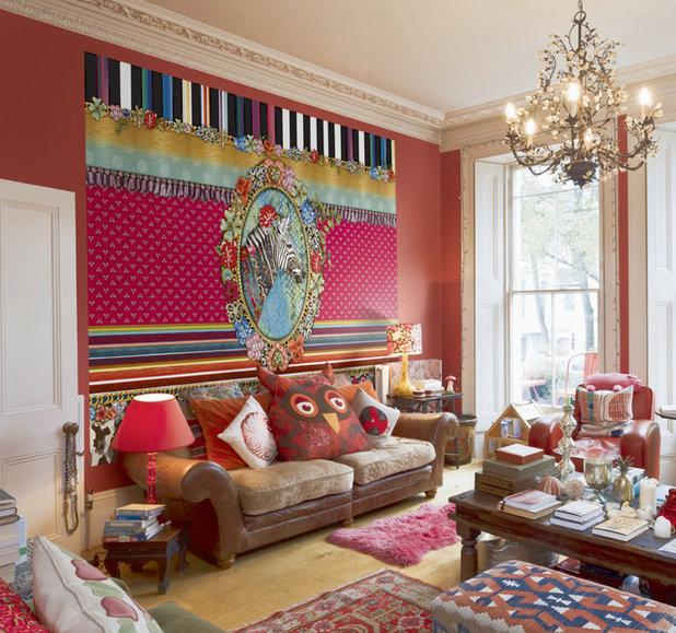 Eklektisch Wohnbereich by Tapeto® - hier kauft man Tapeten