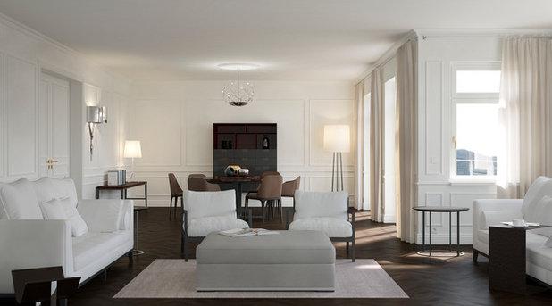 Klassisch modern Wohnbereich by makasa