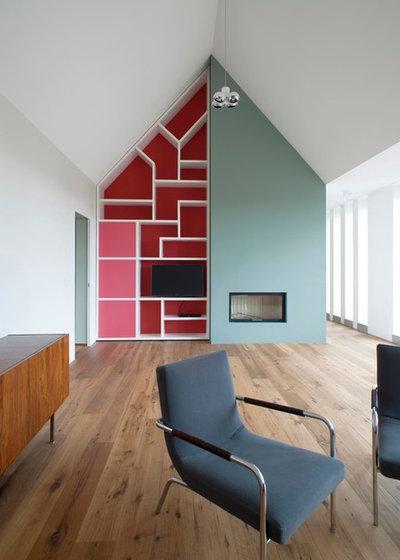 Architektur farbenfrohe maisonette in der k lner dachlandschaft - Bachmann badie architekten ...