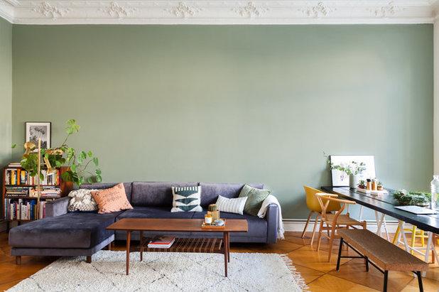 Wandfarbe fürs Wohnzimmer: So finden Sie den richtigen Ton