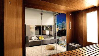 Die neue Sauna S1 von KLAFS - Blick Innen nach Aussen
