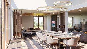 Einrichtungskonzept und Lichtkonzept für eine Villa in Düsseldorf