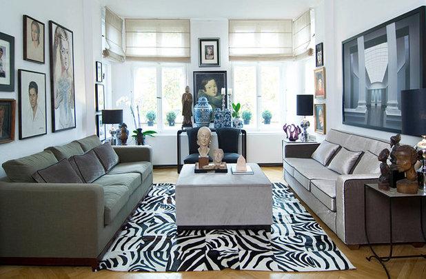 Eclectic Family Room Eklektisch Wohnzimmer