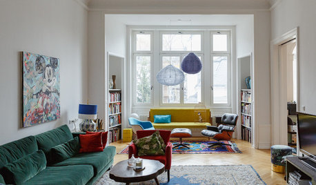 My Houzz: A Bright, Colourful and Vintage-filled Family Flat
