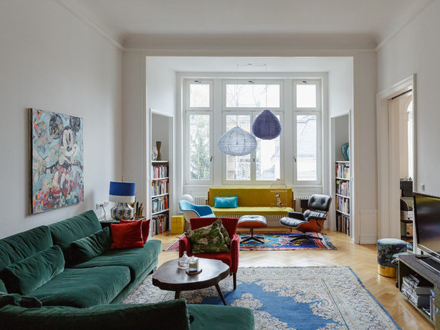 Awesome Eclectic Family Room by Uli Kaufmann