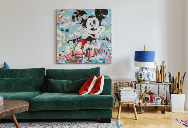 Ideal Eclectic Family Room by Uli Kaufmann