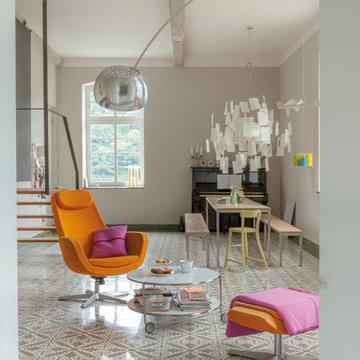 Eklektisch Wohnzimmer