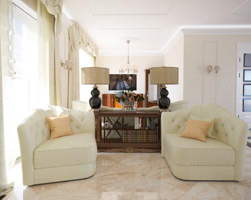 Wohnideen f r wohnzimmer mit marmorboden und wand tv ideen design houzz - Marmorboden wohnzimmer ...
