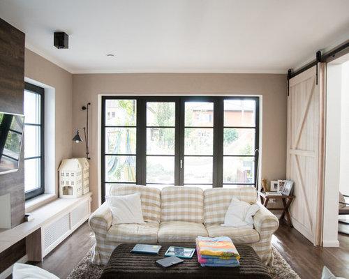 landhausstil wohnzimmer ideen design houzz. Black Bedroom Furniture Sets. Home Design Ideas