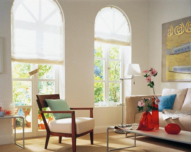 Vorhänge Und Textiler Sichtschutz Für Komplizierte Fenster