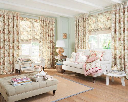 abgetrennte landhausstil wohnzimmer - ideen, design, bilder ... - Landhausstil Wohnzimmer