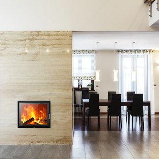 Feuerstelle als Raumteiler