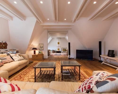 landhausstil wohnzimmer: design-ideen, bilder & beispiele | houzz, Innenarchitektur ideen