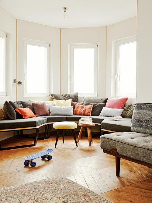 Moderne wohnzimmer mit offener küche  Wohnzimmer - Ideen, Design, Bilder & Beispiele