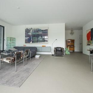 Salon mansardé ou avec mezzanine moderne Cologne : Photos et idées ...