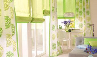 Gardinen in grünen Tönen
