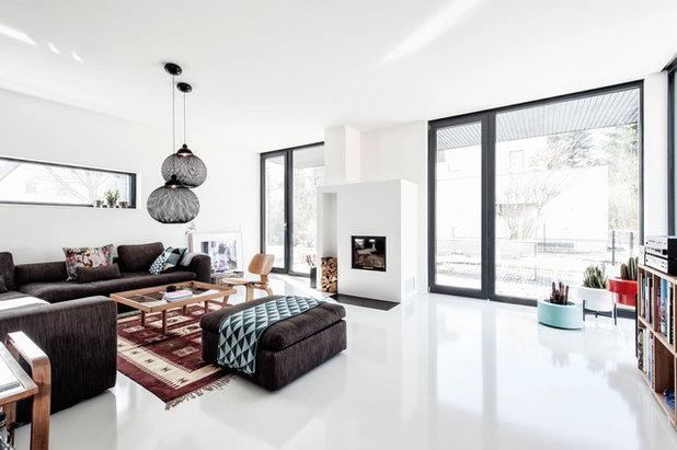Moderne Dagligstue by architekt uwe klose