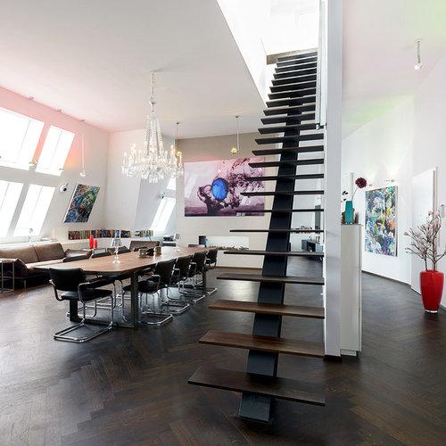 Salon mansardé ou avec mezzanine de luxe Allemagne : Photos ...