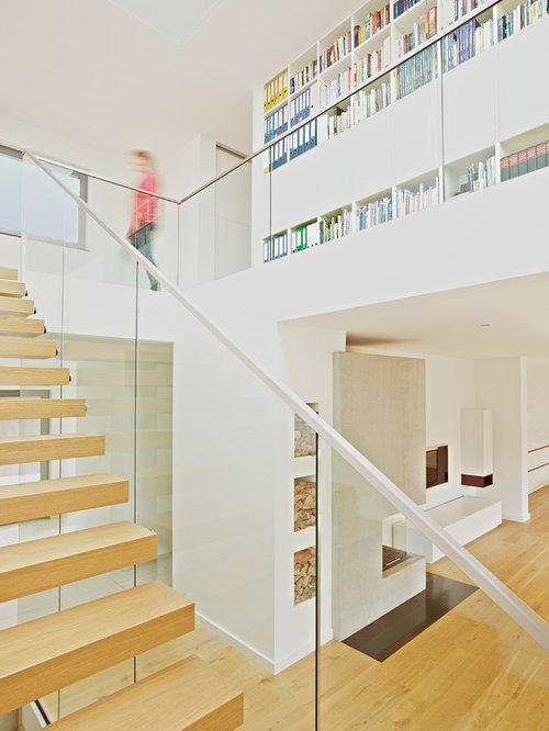 treppe wohnzimmer - ideen & bilder | houzz, Wohnzimmer