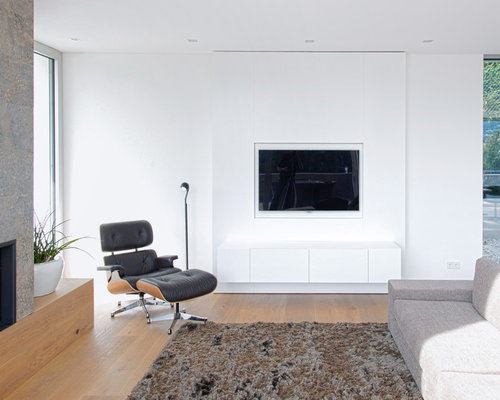 wohnzimmer mit gaskamin und wand tv ideen design bilder houzz. Black Bedroom Furniture Sets. Home Design Ideas