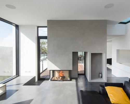 Wohnzimmer mit Kaminofen Ideen, Design & Bilder | Houzz
