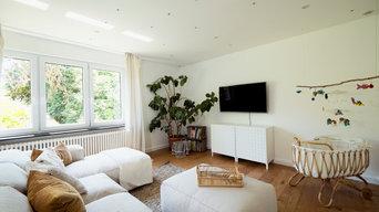 Helles, gemütliches Wohnzimmer im cleanen Bohostil