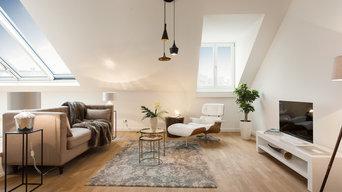 Home Staging einer sanierten Dachgeschosswohnung