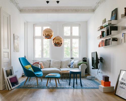 Wohnzimmer mit Wand-TV Ideen, Design & Bilder | Houzz