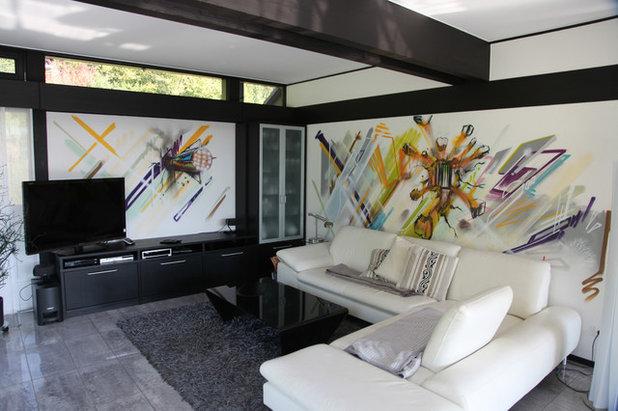 Modern Wohnzimmer by BOMBER-Atelier für urbane Kommunikation & Design