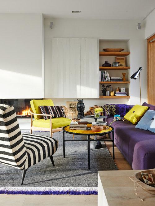 97 fotos skandinavische wohnzimmer mit ribbon kamin - Nordische Wohnzimmer