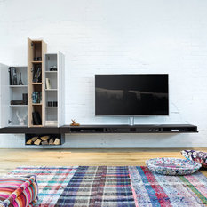 rustikale tv hifi m bel tv wandhalterung und dvd regal houzz. Black Bedroom Furniture Sets. Home Design Ideas