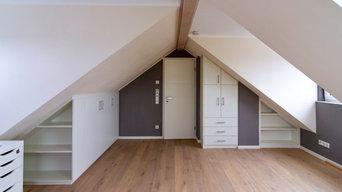 Innenausbau einer Dachgeschosswohnung