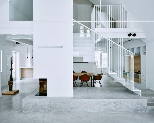 Betonfußboden Wohnzimmer ~ Betonbden im wohnbereich. wohnzimmer einrichten mit beton highlight