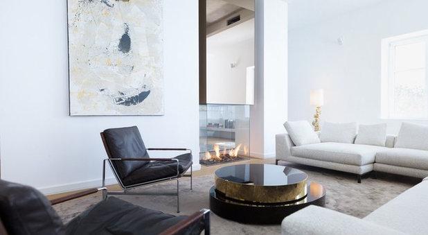 Modern Wohnbereich by schöne räume ai GmbH