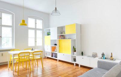 Houzzbesuch: Strahlkraft und Stauraum für ein Mini-Apartment