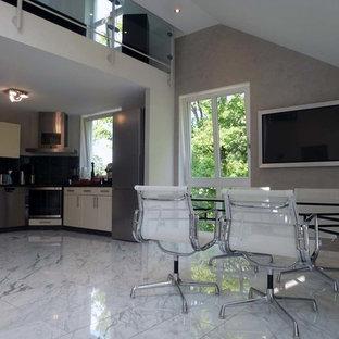 Salon avec un sol en marbre Francfort : Photos et idées déco ...