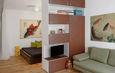 Casas Houzz: Un estudio de 40 m² con toques retro en Berlín