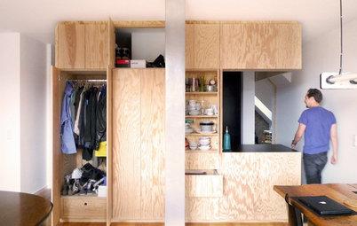 Modular im Dachgeschoss: Eine Küche als Einbaublock