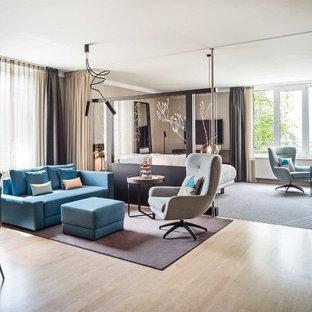 Salon mansardé ou avec mezzanine Hambourg : Photos et idées déco de ...