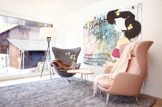 Skandinavisch Wohnbereich by Oza Interiors