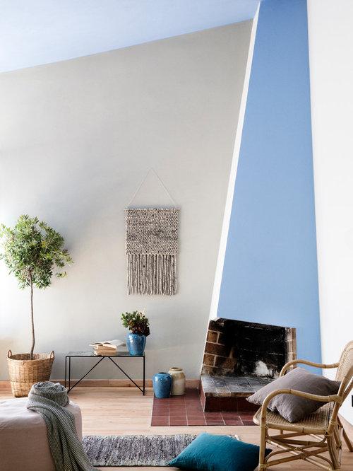 Wohnideen für skandinavische wohnzimmer mit eckkamin   ideen ...
